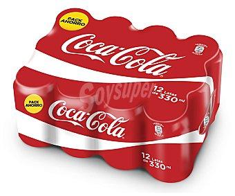 Coca-Cola Refresco cola Pack 12 latas x 33 cl