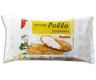 AUCHAN Pechuga de pollo empanado 400 Gramos