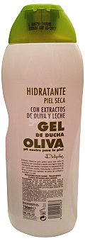 Deliplus Gel baño piel seca hidratante oliva y leche ph 5.5 Botella 750 cc