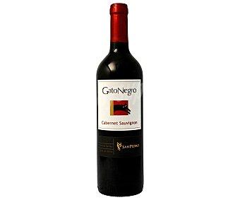 GATO NEGRO Vino tinto chileno cermenère botella de 75 centilitros