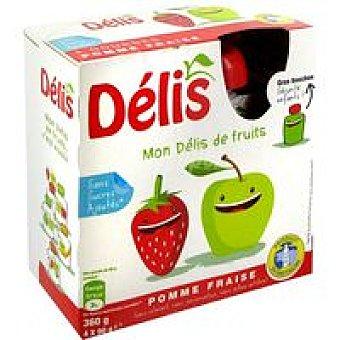 Compota de manzana-fresa délis Pack 4x90 g