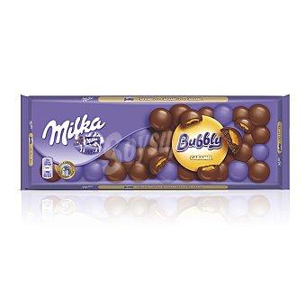 Milka Bubbly chocolate relleno de caramelo Tableta 250 g