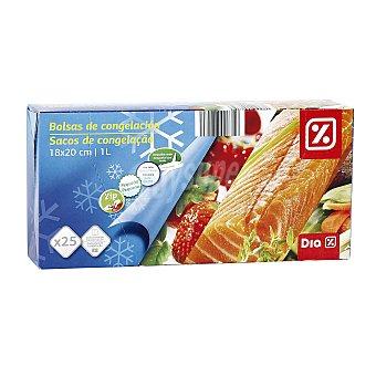 DIA Bolsas de congelación zip pequeña Paquete 25 uds