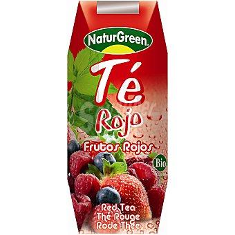 NATURGREEN bebida de té rojo de frutos rojos bio  envase 250 ml