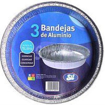 Sil Molde redondo de aluminio 1 litro Pack 3 unid