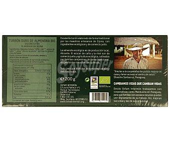 Intermón Oxfam Turrón duro de almendra, Ecológico, calidad extra,, 200 gramos