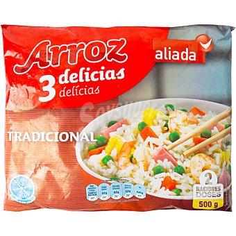 Aliada Arroz tres delicias tradicional 2 raciones Bolsa 500 g