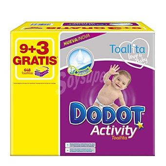 Dodot Activity Toallitas bebé Pack 12x54 ud