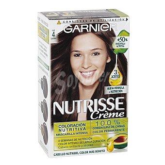 NUTRÍSSE Creme tinte Cacao Castaño nº 4 coloracion nutritiva caja 1 unidad cabello brillante y sedoso Caja 1 unidad