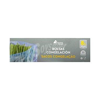 Bosque Verde Bolsa congelación grande 30X45CM (envase gris) Paquete 30 u