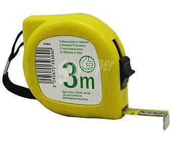 Productos Económicos Alcampo Flexómetro con Bloqueo, 3 Metros 1 Unidad