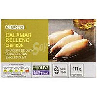 Eroski Chipirón en aceite de oliva Lata 111 g