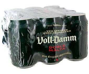 Voll-Damm Cerveza doble malta voll damm Pack de 12 latas de 33 centilitros