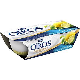 Oikos Danone Yogur griego con un toque de limón  Pack 2 x 115 g