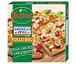 Pizza con masa estilo americana, de pollo, mozzarella y salsa barbacoa 425 g Buitoni American Style