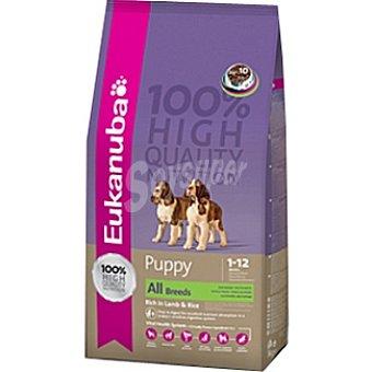 EUKANUBA PUPPY & JUNIOR Alimento completo y equilibrado para cachorros de todas las razas con cordero y arroz Bolsa 3 kg