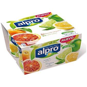 Alpro Asturiana Naranja/lima-limón Pack 4 x 125 gr