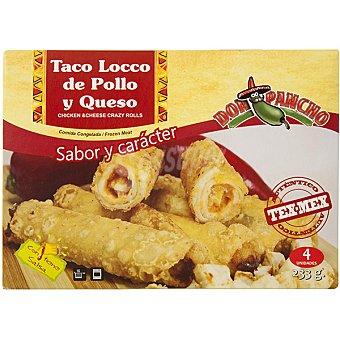 Don Pancho Taco locco de pollo y queso con salsa 4 unidades estuche 233 g 4 unidades