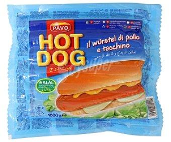 HOT DOG de PAVO Salchichas de Pollo y Pavo 1 Killogramo