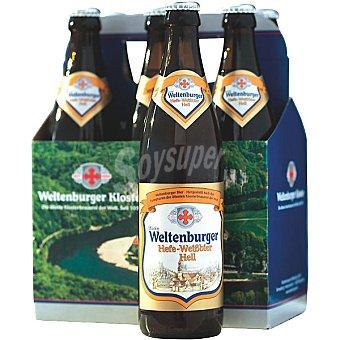 WELTENBURGER Hefe-Weibbier Cerveza rubia de trigo alemana pack 5 botella 50 cl + 1 botella gratis Pack 5 botella 50 cl