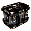 Cerveza Guinness Draught irlandesa negra + regalo vaso de pinta Pack de 5 latas de 44 cl. Guinness