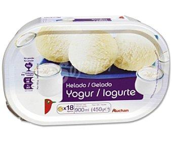 Auchan Tarrina helado de yogur 900 Mililitros