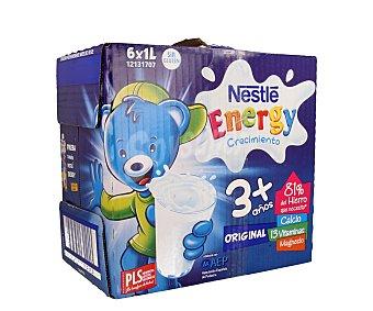NESTLÉ CRECIMIENTO Leche de crecimiento para niños a partir de 3 años Pack 6 unidades de 1 litro