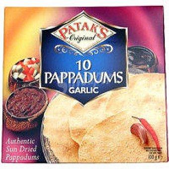 Patak's Pappadums de ajo Caja 100 g