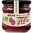Fruta Untable mermelada 70% frambuesa con sirope de ágave ecológica y sin gluten Frasco 325 g Bebé