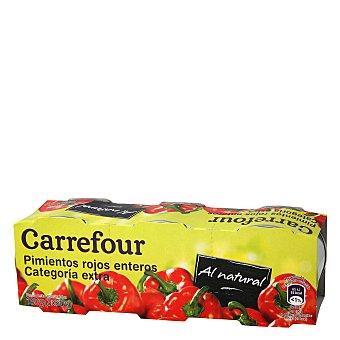 Carrefour Pimientos rojos extra Pack de 3x60 g
