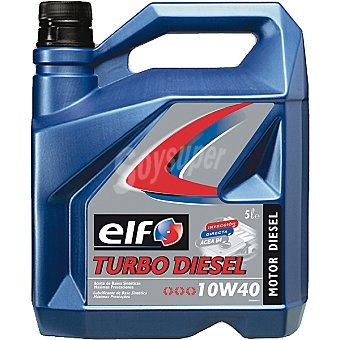 ELF 10W40 Aceite motor turbo diesel para automóvil 5 l