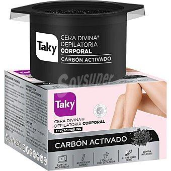 Taky Cera depilatoria Divina corporal Carbón Activado especial microondas Tarro 300 g