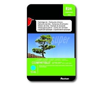 Auchan Cartucho Cian T0442 (E24) - Compatible con impresoras: epson Stylus C64 / C66 / C84 / C84N / C84WN / CX3600 / CX36650 / CX4600 / CX6400 / CX6600