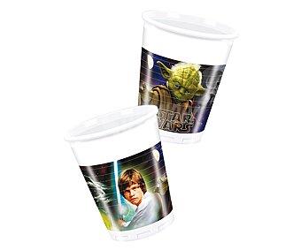 Star Wars Vasos desechables de plástico con diseño Star Wars & Heroes, 20 centilitros de capacidad Pack de 8 unidades
