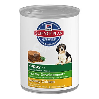 HILL'S SCIENCE PLAN PUPPY Alimento húmedo con pollo para perros cachorros Lata 370 g