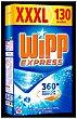 Detergente máquina polvo acción quitamanchas en frío Maleta de 130 cacitos Wipp Express