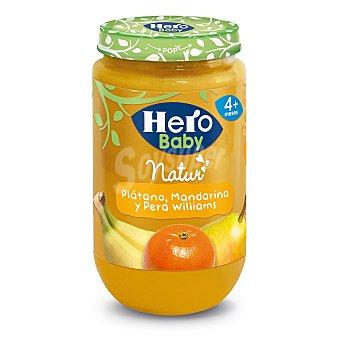 Hero Baby Tarrito de fruta (plátano, mandarina y pera williams) a partir de 4 meses 235 gr