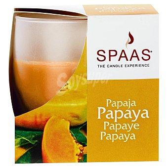 SPAAS Vela Perfumada en vaso de cristal aroma Papaya