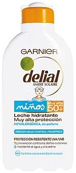 Delial Garnier Leche hidratante niños FP-50 resistente al agua Resisto frasco 200 ml