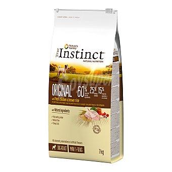 True Instinct Pienso para perros Adultos Original Mini pollo 7 Kg