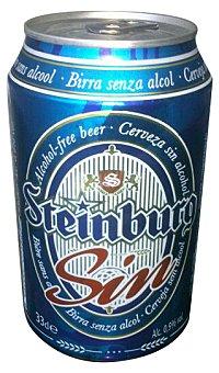 Steinburg Cerveza rubia sin alcohol Lata 330 cc