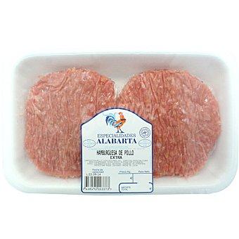 ALABARTA Hamburguesas de pollo 4 unidades peso aproximado bandeja 400 g Bandeja de 400 g peso aprox. (4 unidades)