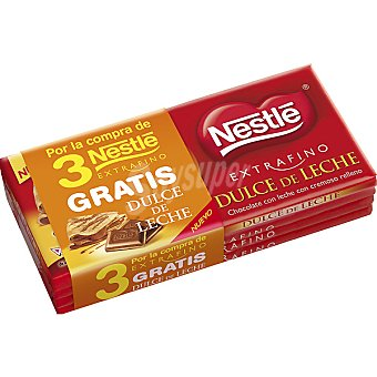 Extrafino Nestlé chocolate con leche + Nestlé... pack 3 tableta 150 g