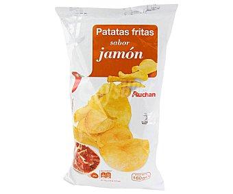 Auchan Patatas fritas lisas con sabor a jamón Bolsa de 160 g