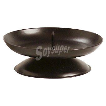 SPAAS Base Metálica con pincho para velas en color negro