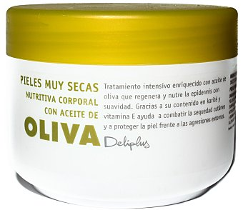 Deliplus Crema corporal aceite oliva Tarro 200 cc