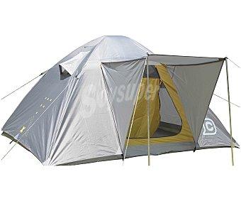 CUP´S Tienda igloo para 4 personas, con puerta frontal con avance, 2 ventilaciones laterales, impermeabilidad de 1500 milímetros y medidas 240x210x140 centímetros 1 unidad