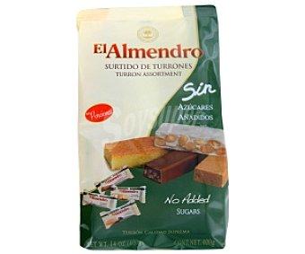 El Almendro Surtido de turrones en porciones (4 variedades) sin azucares añadidos 400 gramos