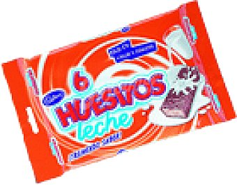 Huesitos Valor Chocolate leche . 120 grs 6 unid