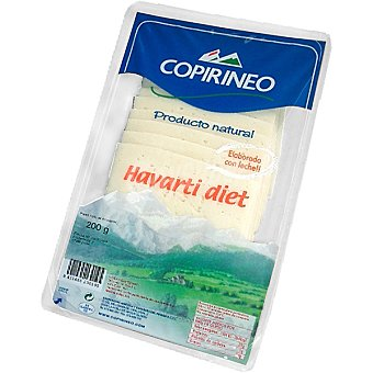 Copirineo Queso havarti diet en lonchas Bandeja 200 g
